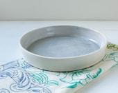 Blue Gray Straight Wall Porcelain Dish