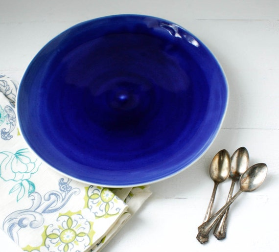 Cobalt Serving Plate