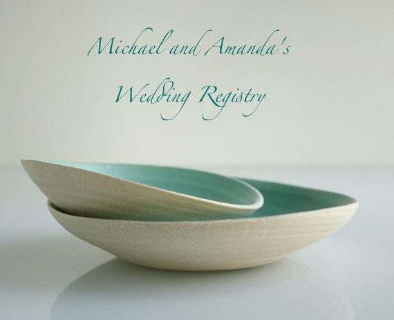MICHAEL and AMANDA'S Wedding Registry Medium Serving Bowl
