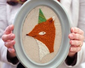 DIY Embroidery Kit - Party Fox Crewel Embroidery Kit