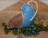 Felt Partridge Christmas Bird