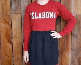 SALE University of Oklahoma Sooners OU Long Sleeve Game Day Dress - Size Small