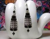 Doctor Who White Dalek Dangle Earrings