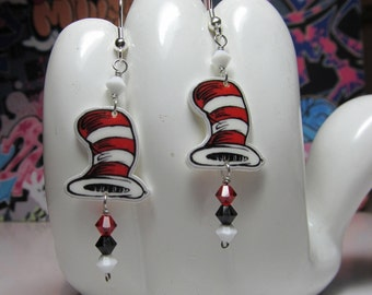 Cat in the Hats, Hat Dangle Earrings