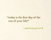 today is the first day