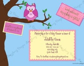 Owl Baby Shower Invitation Whoo's Having a Baby Owl Theme Invitation Owl Baby Shower Invite Owl Invitation Printable Invitation Owl Invite