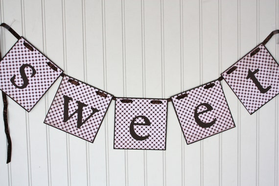 SALE: pink and brown sweet banner