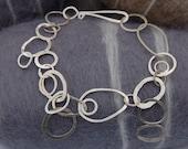 hammered silver Bubble Bracelet