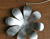 huge silver daisy pendant (for smithkirst1)