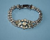 Stylish Art Deco rhinestone bracelet c1930s