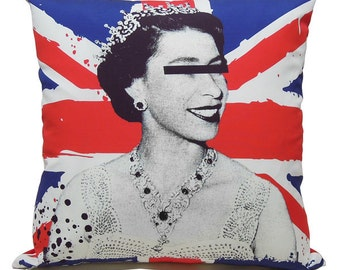 """God save the queen pillow cover - 16"""" (40cm)"""