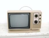 Vintage 1970s Zenith Television Set Futuristic Portable TV