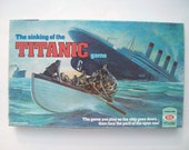 Vintage The Sinking of the Titanic Board Game 1976
