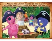 Backyardigans Scurvy Pirate Invitation - custom design - you print
