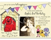 Clifford Big Red Dog Birthday Invitation - you print - custom design