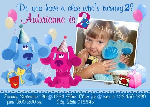 Blues Clues Birthday Invitation - custom design - you print