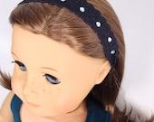 """Rhinestone headband for 18"""" dolls such as American Girl"""