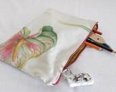 Pencil/supply bag- organic leaf