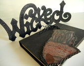 Gloriously Gothic Altered Book Art/Bookmark-Tale of the Body Thief-OOAK