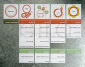 Personalized Happy Helpers Chore Chart Magnet Set