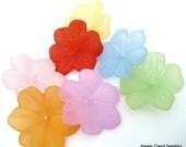 Destash Sale... Big Colorful Acrylic Flower Beads... 30pcs