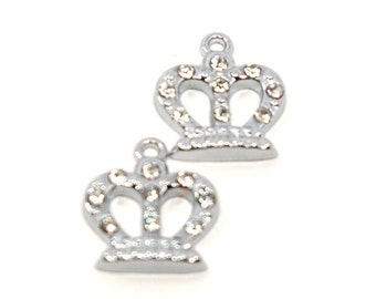 Simple Crown Rhinestone Charm... 2pcs