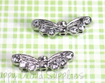Angel's Wings Bead Slider Spacer ... 4pcs