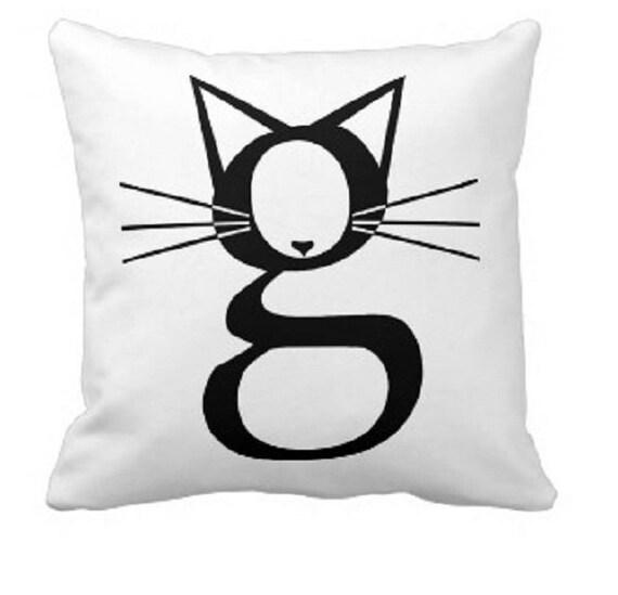 "CAT Pillow - Pillow Cover - Printed Throw Pillow - 18""x18"" - Decorative Pillow Cover"