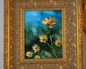 """Original 8 x 10 Oil Painting- """"Summer Fields"""" Free Shipping"""