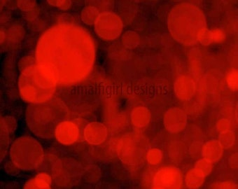 Passion- 8x8 Red Bokeh Fine Art Photograph