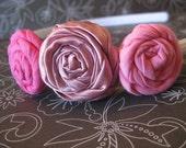 SALE Shades of Pink Fabric Flower Headband