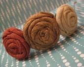 Burlap Fabric Flower Headband