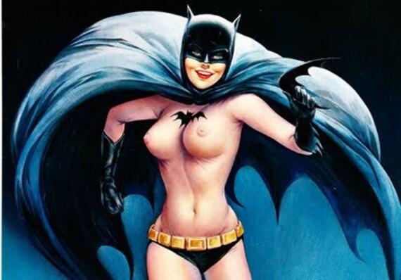 Vintage Vargas BatGirl Two Page Centerfold Playboy Poster