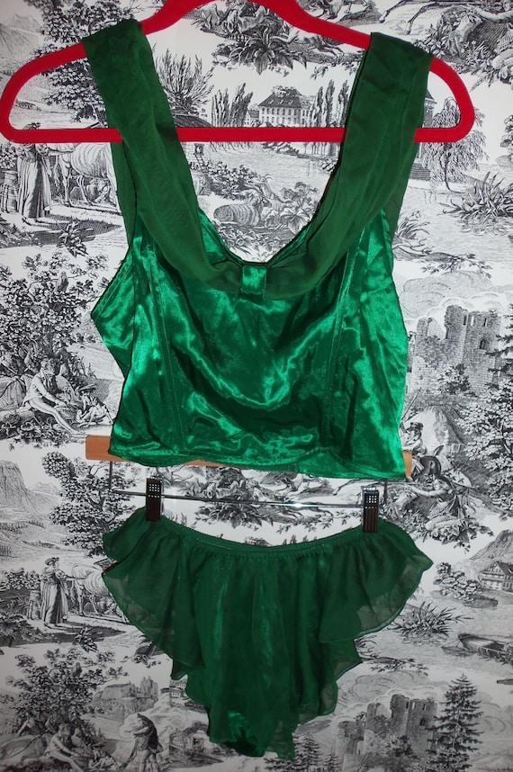 Vintage 80s Victorias Secret Corset and Panty Set