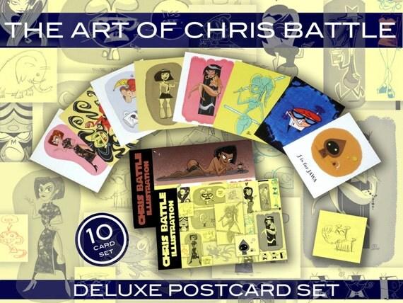 The Art of Chris Battle Deluxe Postcard Set