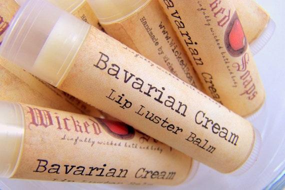 Lip Balm . Bavarian Cream Lip Balm . Cocoa Butter Beeswax Lip Balm Tube by WickedSoaps