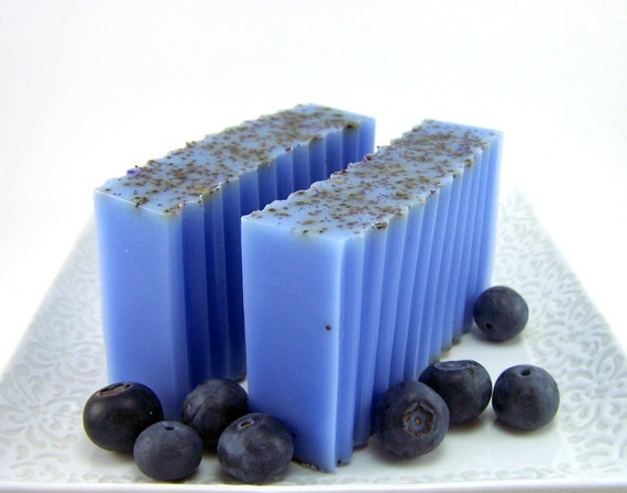 Blueberry Goats Milk Soap Bar by WickedSoaps