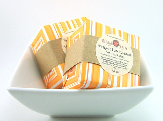 Tangerine Dreams Goats Milk Soap Bar by WickedSoaps