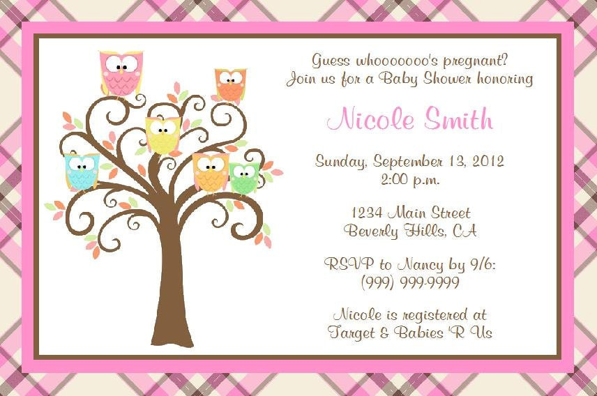 owl baby shower invitations templates. what i love most about, Baby shower invitations