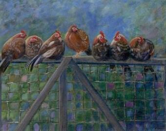 On The Fence, print of original acrylic
