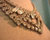 Vintage Art Deco Style Rhinestone Necklace