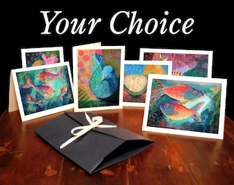 Fine Art Note Card Set (6 cards) - Your Choice - FREE SHIPPING