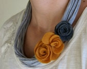 Yellow Rose T-Shirt Necklace