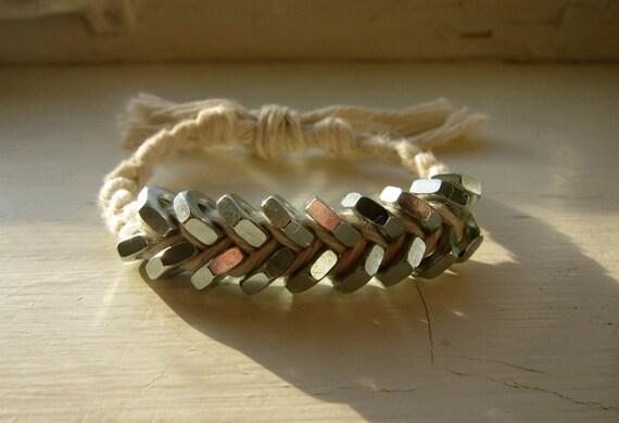 Hex Nut Bracelet - Braided Twine Woven Bracelet