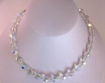 Vintage 1950's Hobe Aurora Borealis Necklace