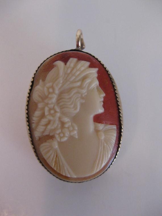 Antique Edwardian Cameo Brooch/Pendant