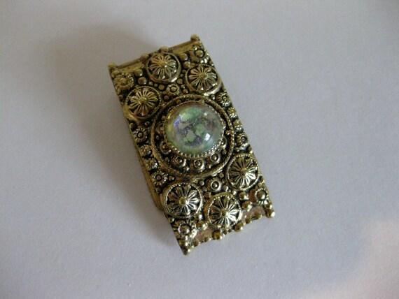Vintage 1930's Faux Opal Dress Clip