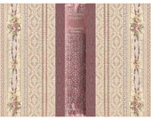 The Queens Necklace Book Cover Instant Download no.545 Large Printable 8 x13 Antique Wallpaper Collage Sheet Tattered Vintage 545