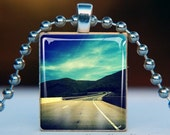 Scrabble Tile Pendant . Winding Road 0705 . BUY 3 GET 1 FREE