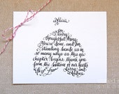 Custom Wedding Thank You Cards, by Storied Ink Studio
